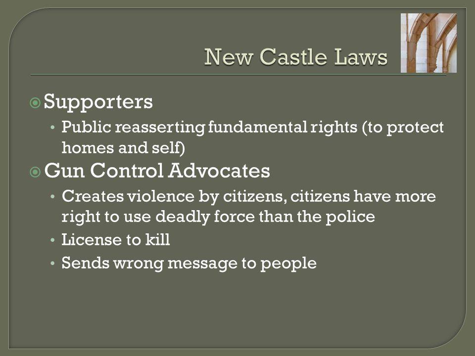 New Castle Laws Supporters Gun Control Advocates