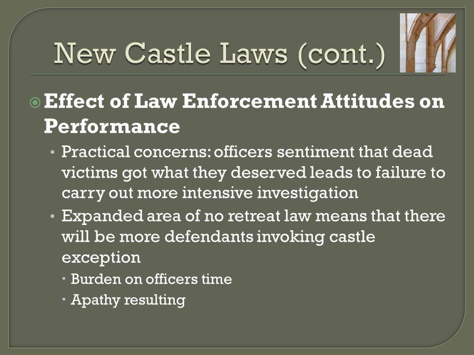New Castle Laws (cont.) Effect of Law Enforcement Attitudes on Performance.