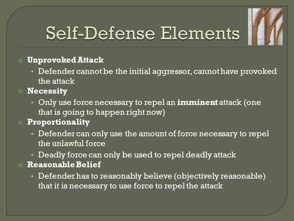 Self-Defense Elements
