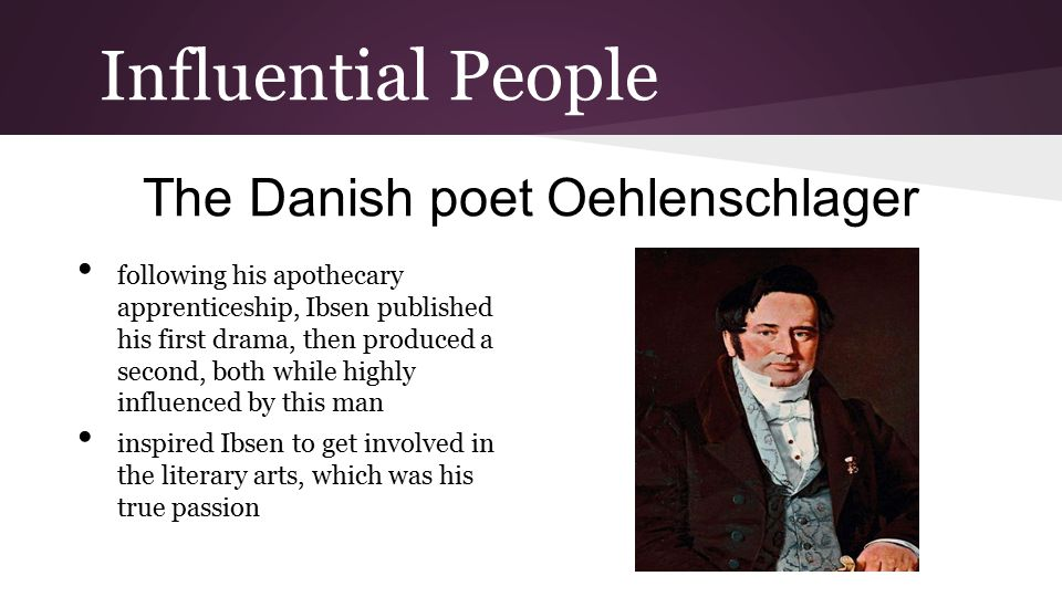 The Danish poet Oehlenschlager