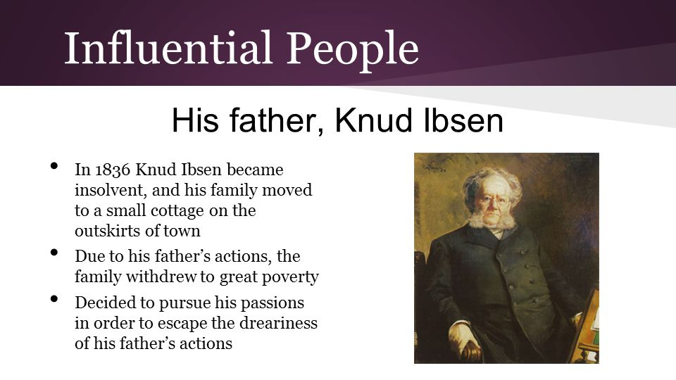 Influential People His father, Knud Ibsen