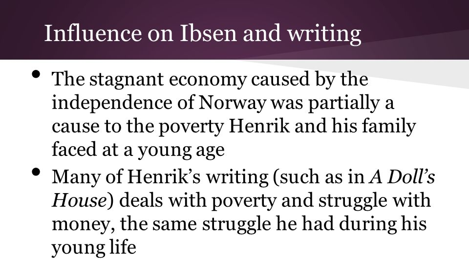 Influence on Ibsen and writing
