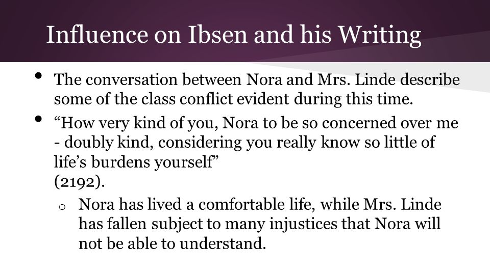 Influence on Ibsen and his Writing