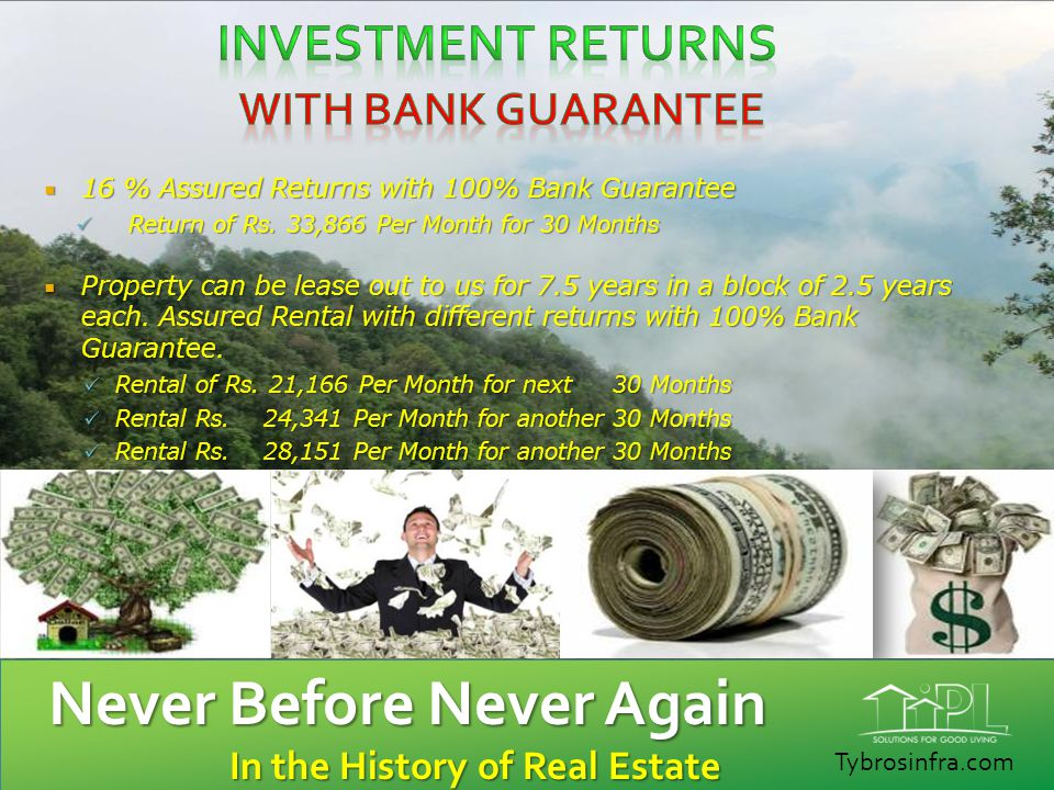 Investment Returns WITH BANK GUARANTEE