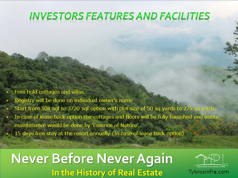 Investors Features and Facilities