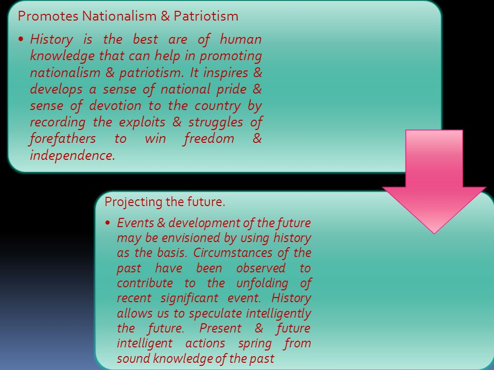 Promotes Nationalism & Patriotism