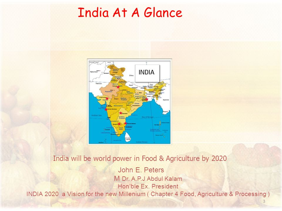 India will be world power in Food & Agriculture by 2020