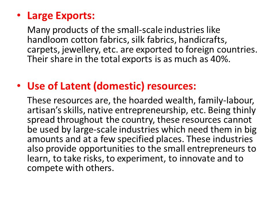 Large Exports: