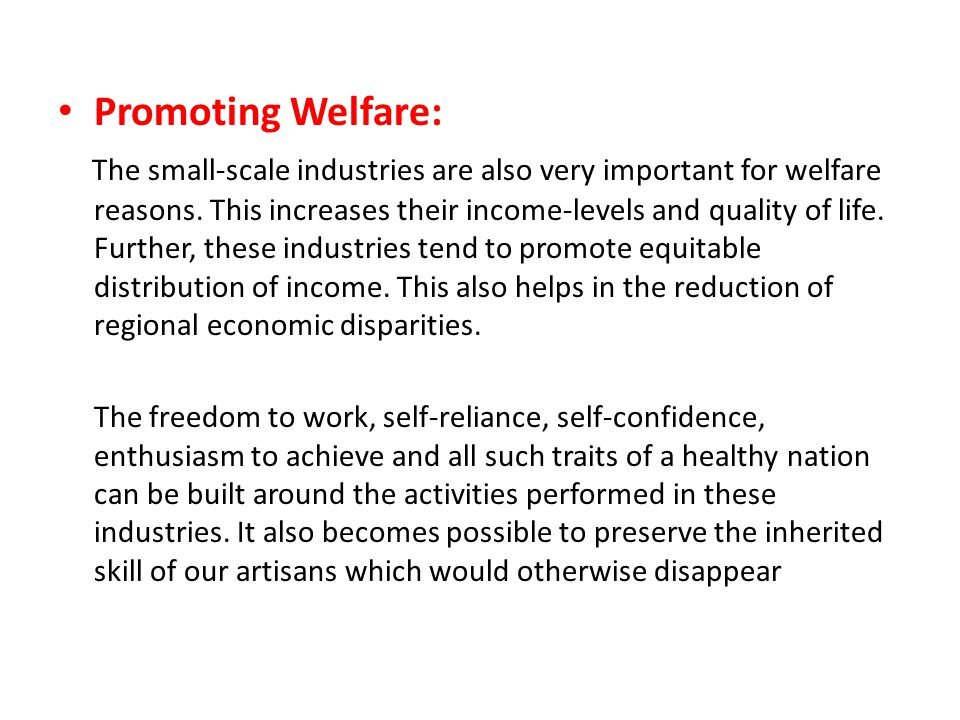 Promoting Welfare: