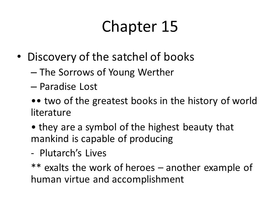 Chapter 15 Discovery of the satchel of books