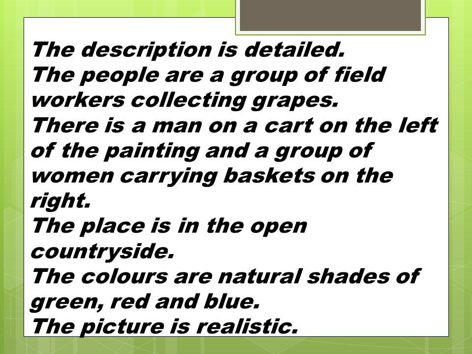 The description is detailed.