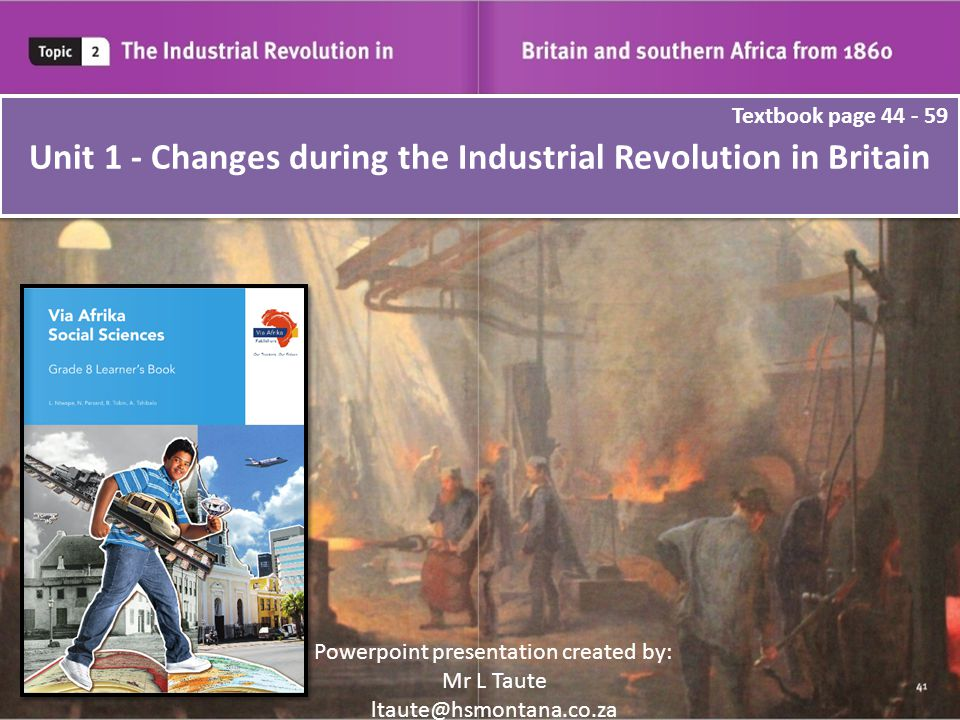 the changes during the industrial revolution The industrial revolution refers to a series of  underwent drastic socio-economic and cultural changes during this  during this time, the industrial factory.