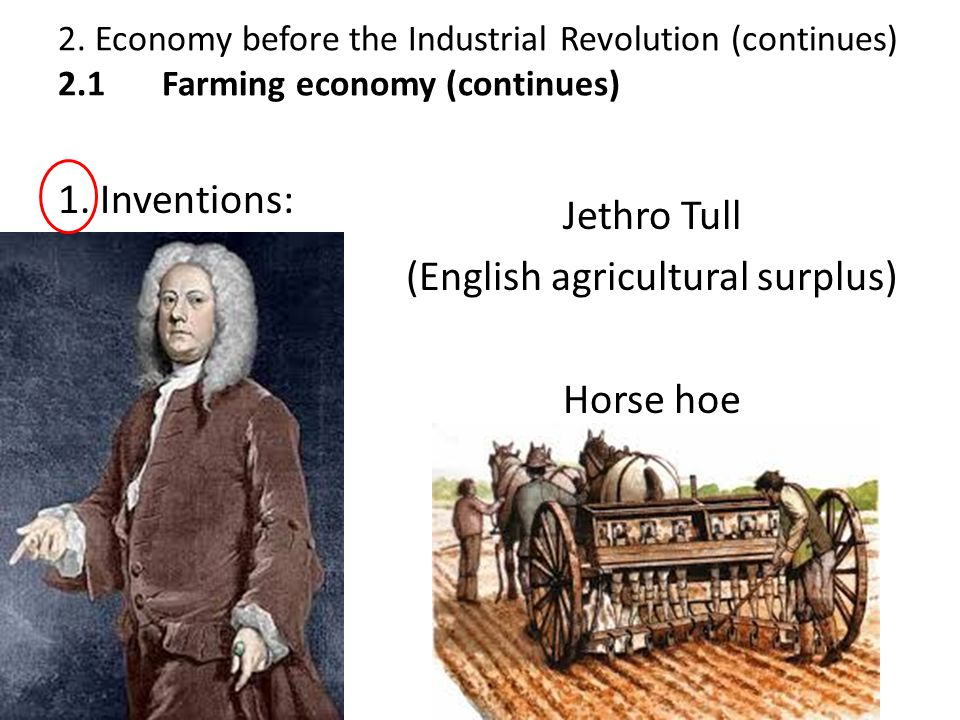 (English agricultural surplus)