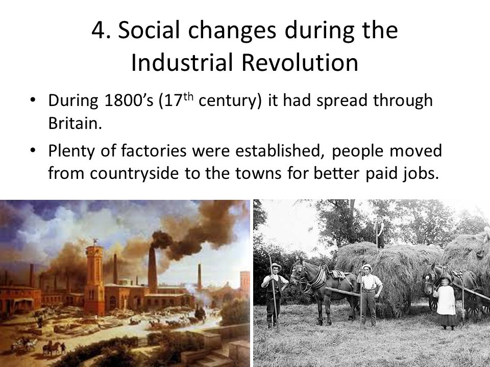 the changes during the industrial revolution Political changes were very slow in  with britain's growing dependence on its working class to actually keep the industrial revolution  during the 1790's.