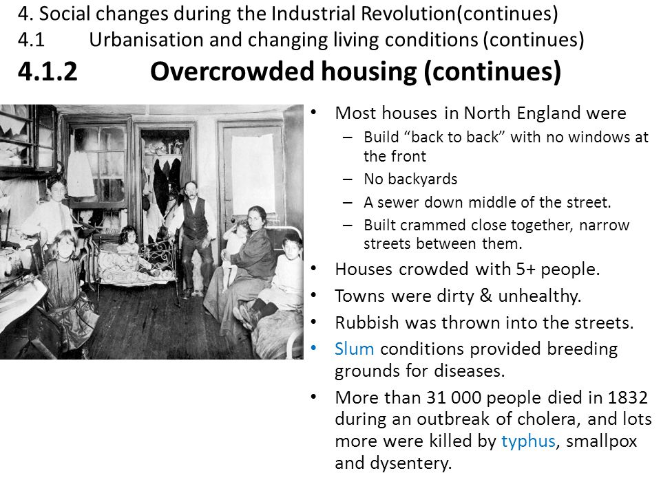 4.1.2 Overcrowded housing (continues)