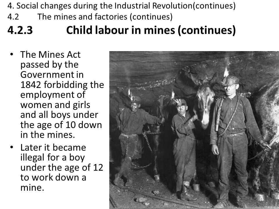 4.2.3 Child labour in mines (continues)