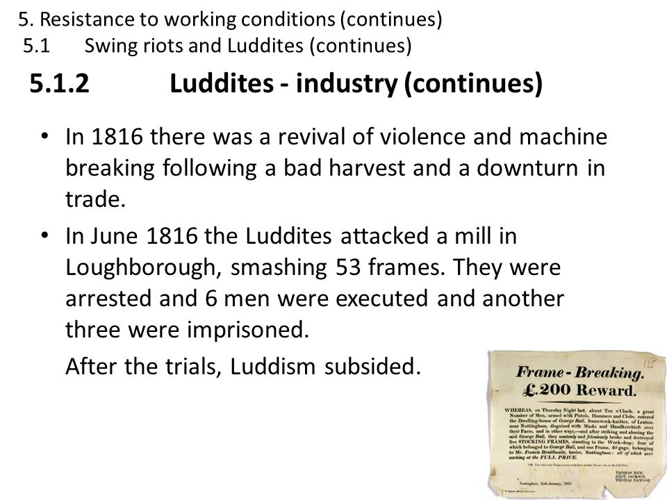 5.1.2 Luddites - industry (continues)