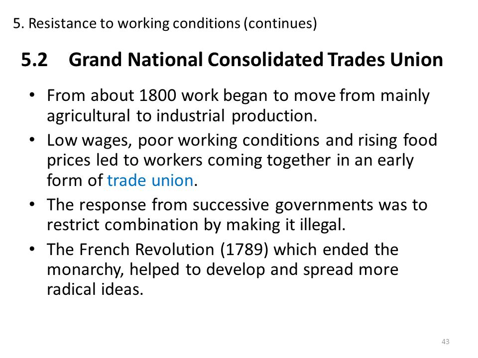 5. Resistance to working conditions (continues)