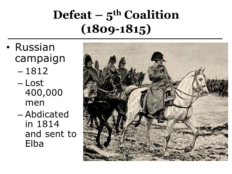 Defeat – 5th Coalition (1809-1815)