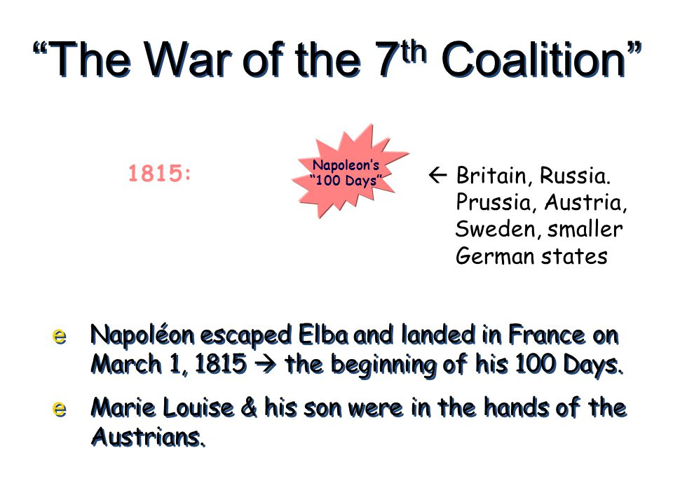 The War of the 7th Coalition