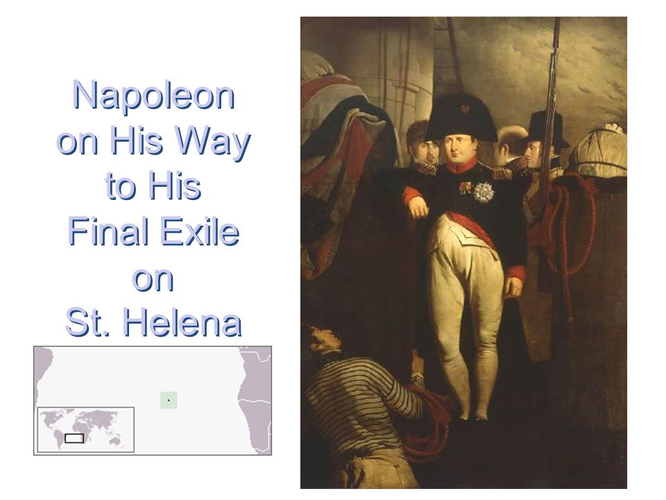 Napoleon on His Way to His Final Exile on St. Helena
