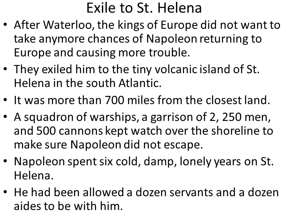Exile to St. Helena