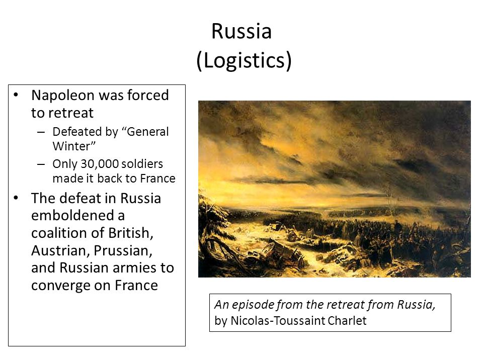 Russia (Logistics) Napoleon was forced to retreat