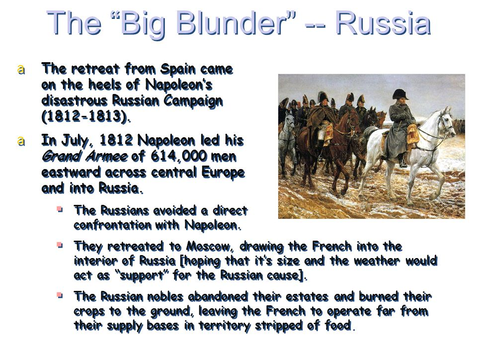 The Big Blunder -- Russia