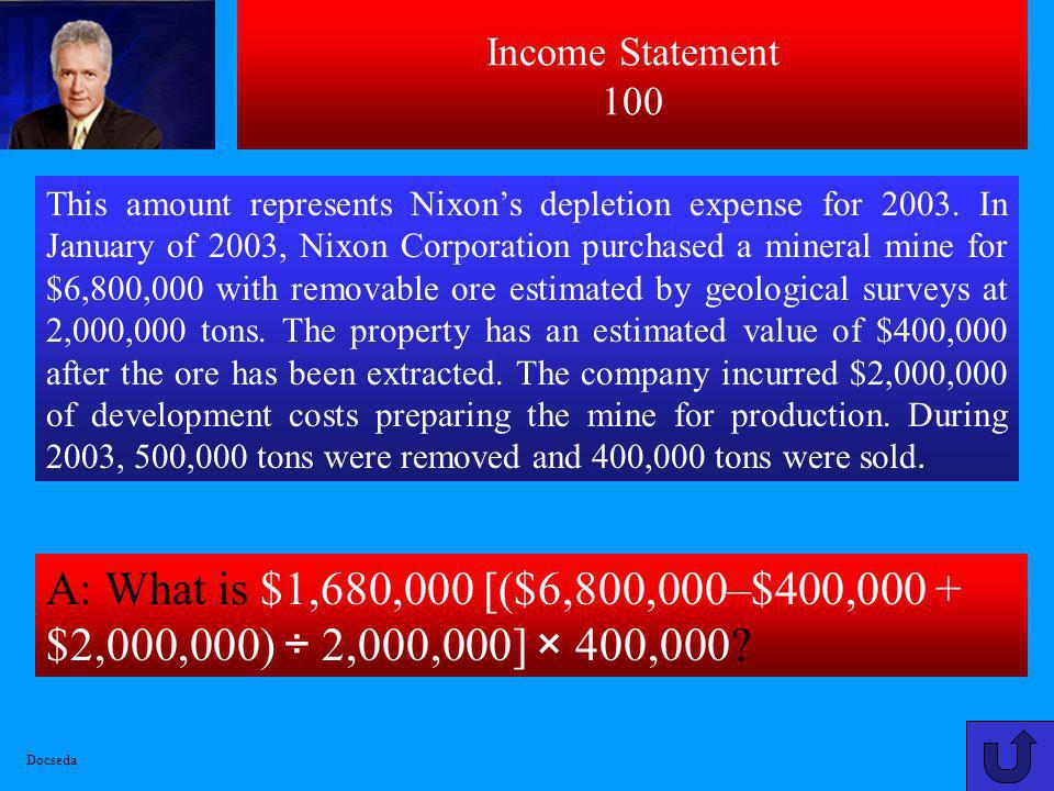 Income Statement 100
