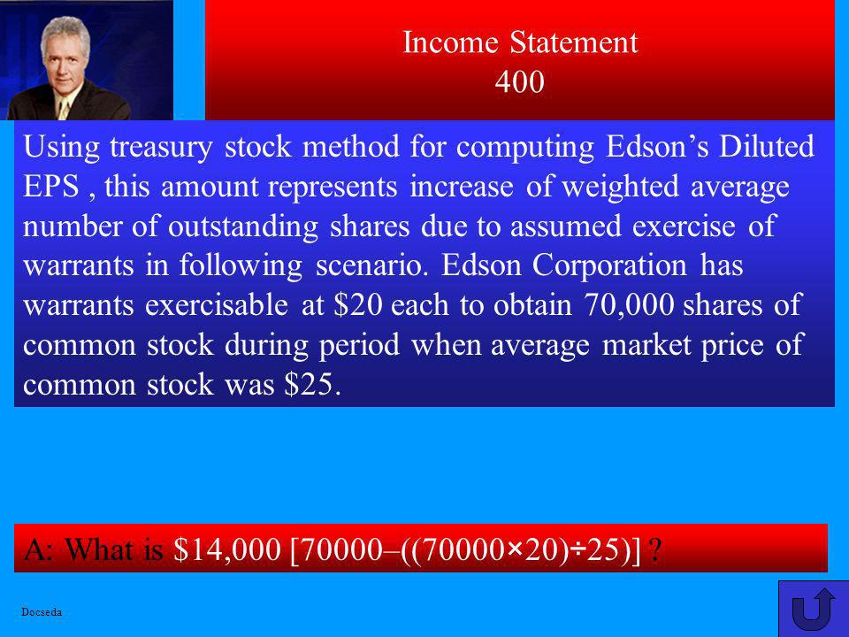 Income Statement 400