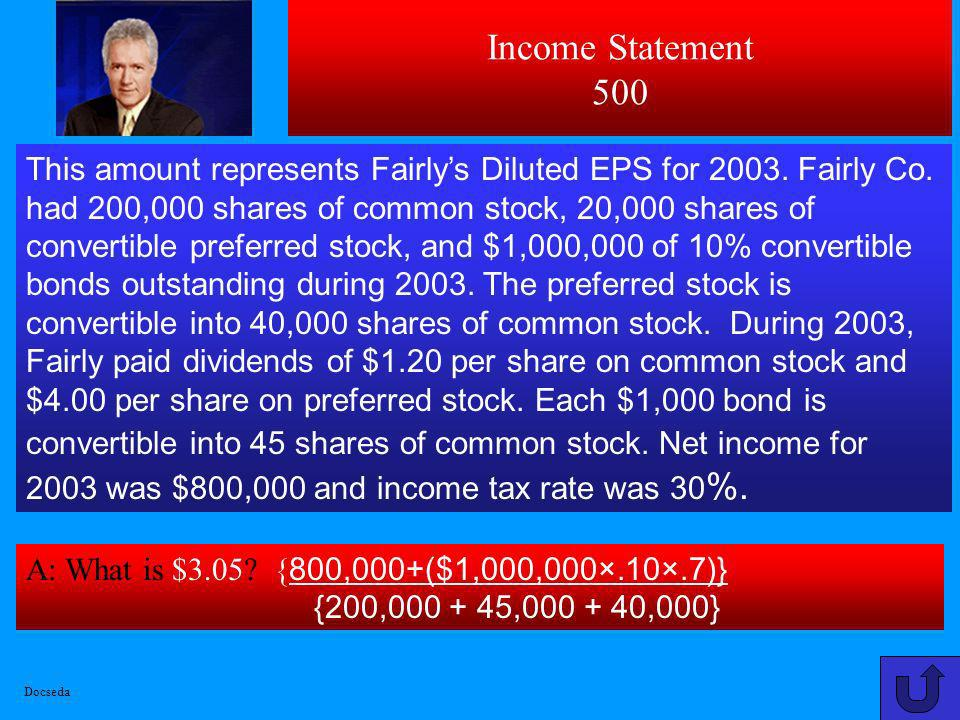 Income Statement 500