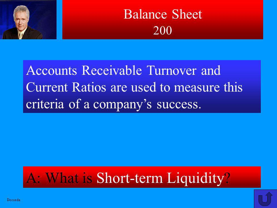 A: What is Short-term Liquidity