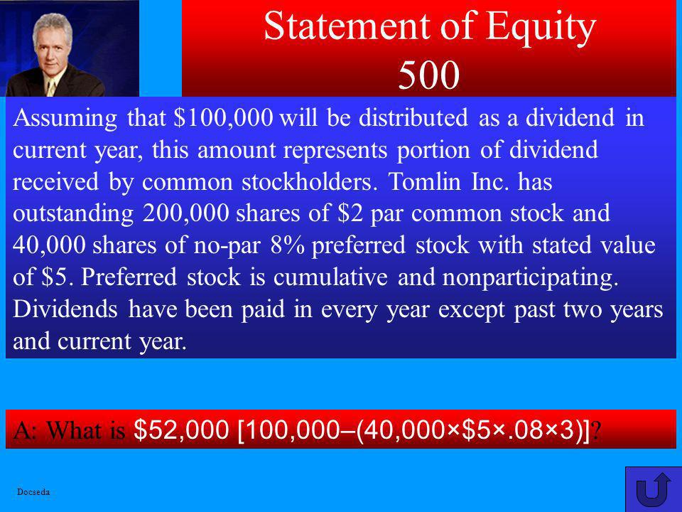 Statement of Equity 500