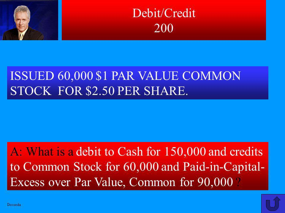 ISSUED 60,000 $1 PAR VALUE COMMON STOCK FOR $2.50 PER SHARE.
