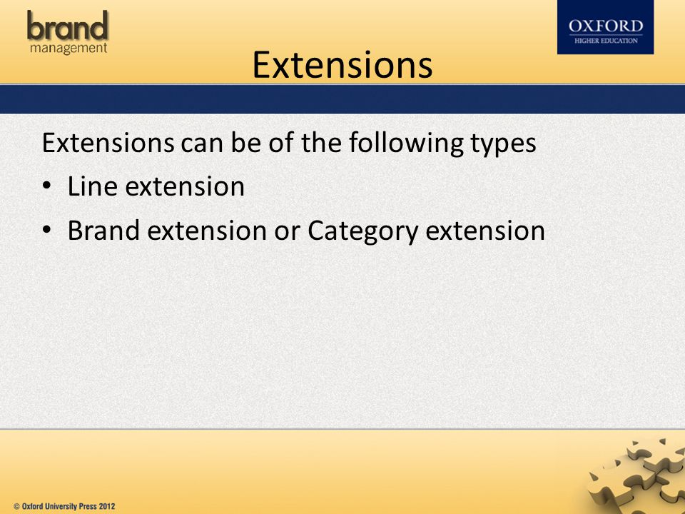 Extensions Extensions can be of the following types Line extension