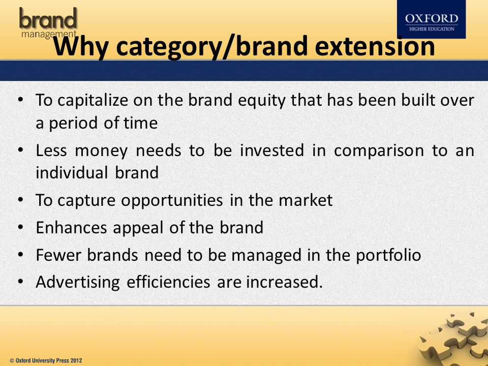 Why category/brand extension