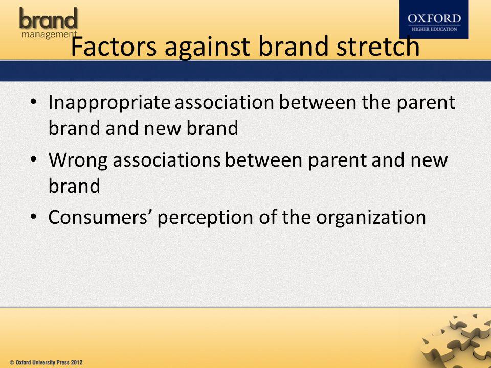 Factors against brand stretch
