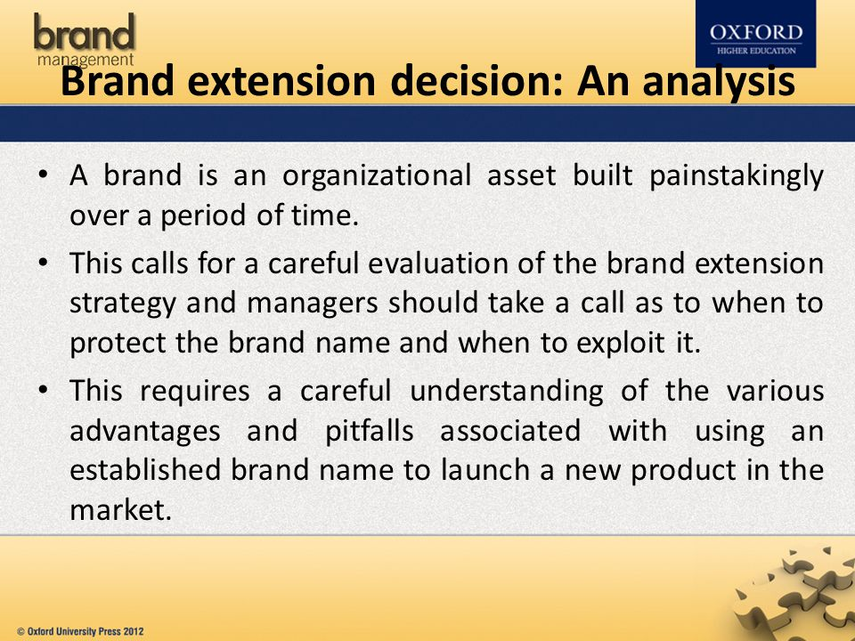 Brand extension decision: An analysis