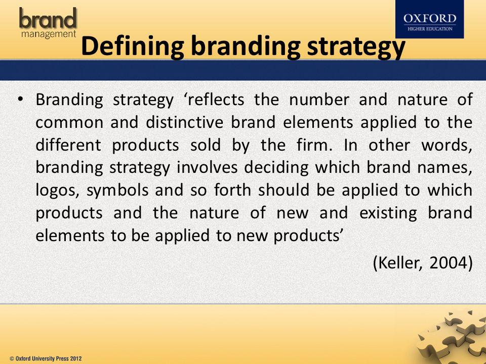 Defining branding strategy