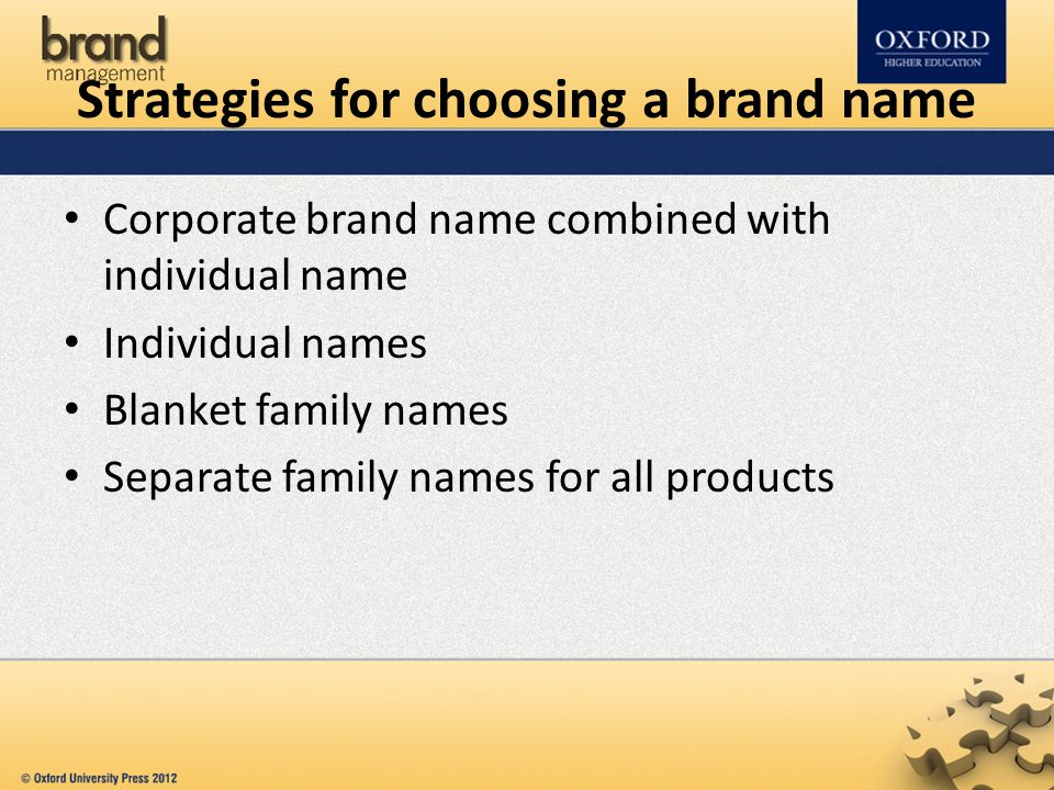 Strategies for choosing a brand name