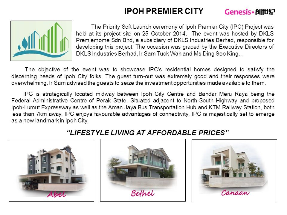 LIFESTYLE LIVING AT AFFORDABLE PRICES