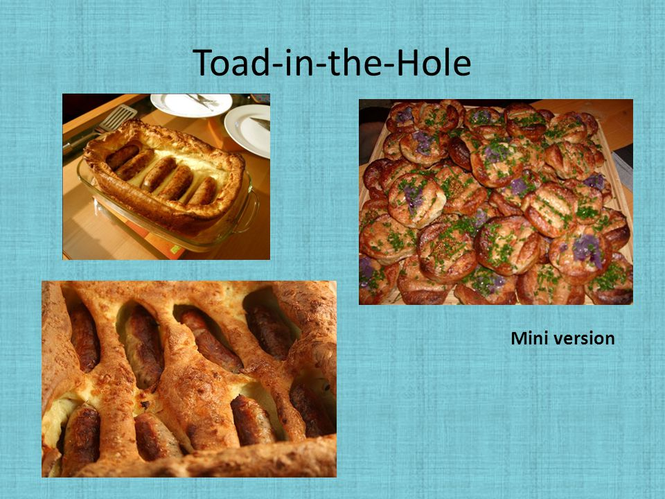 Toad-in-the-Hole Mini version