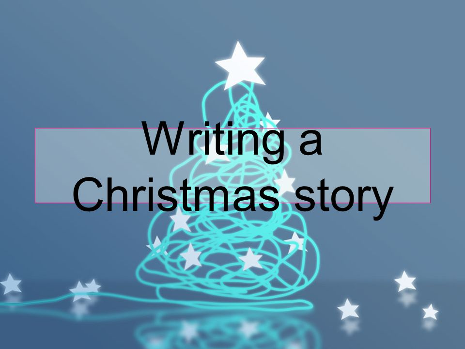 Writing a Christmas story