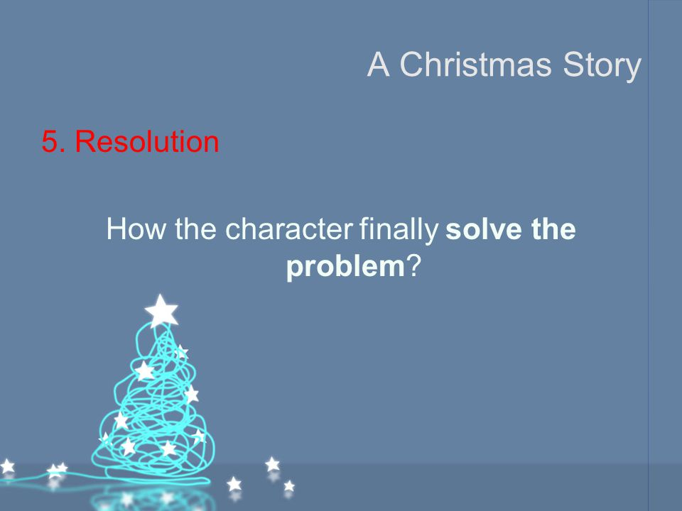 How the character finally solve the problem