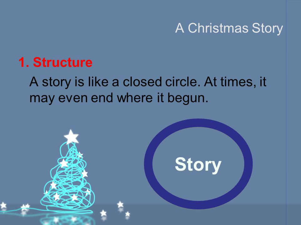 Story A Christmas Story 1. Structure