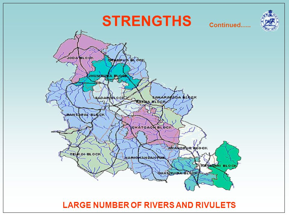 LARGE NUMBER OF RIVERS AND RIVULETS