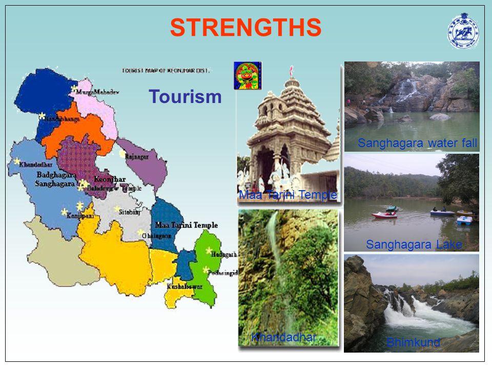 STRENGTHS Tourism Sanghagara water fall Maa Tarini Temple