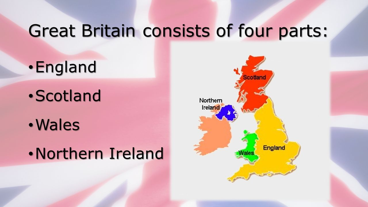 Great Britain consists of four parts: