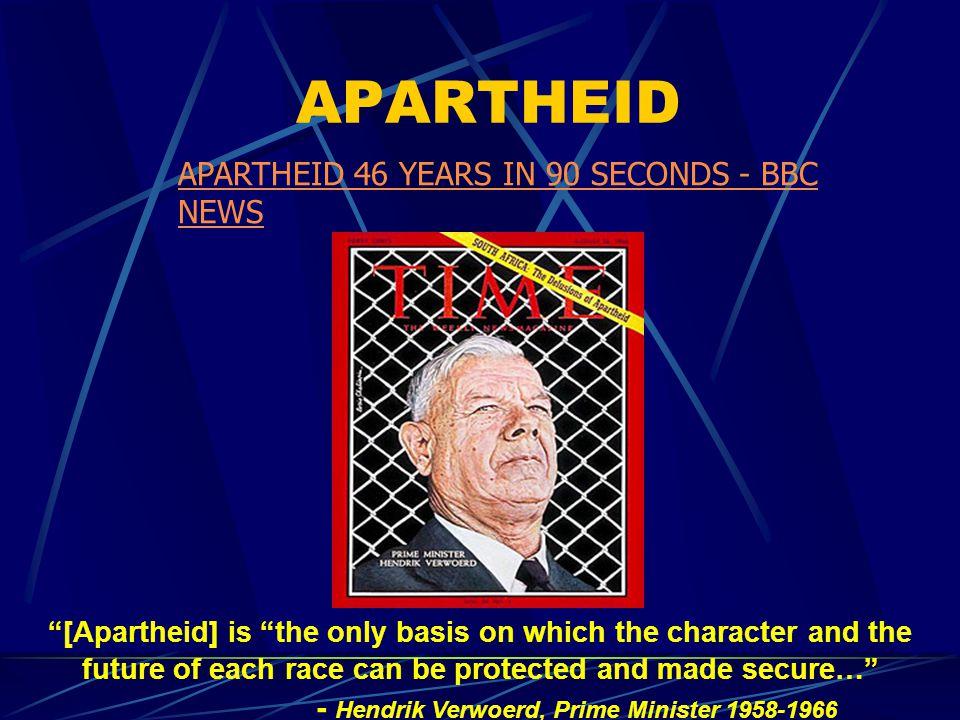 APARTHEID APARTHEID 46 YEARS IN 90 SECONDS - BBC NEWS