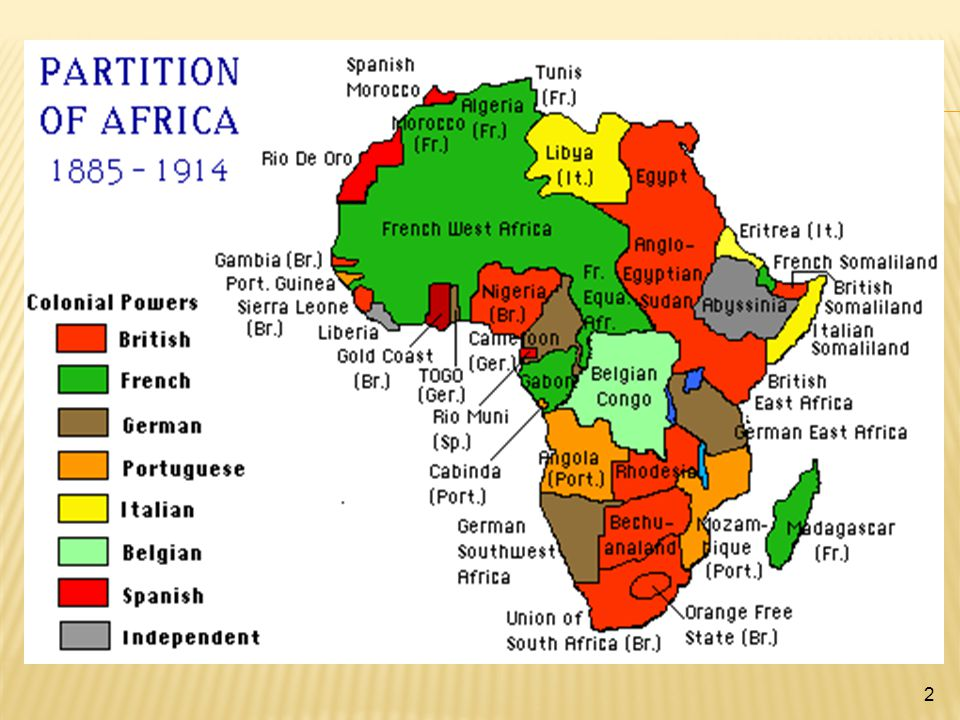 AFRICA WAS ALMOST COMPLETELY TAKEN OVER BY EUROPEAN NATIONS.